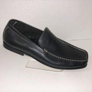 Rockport Mens Black Loafers Slip On Leather Sz 10